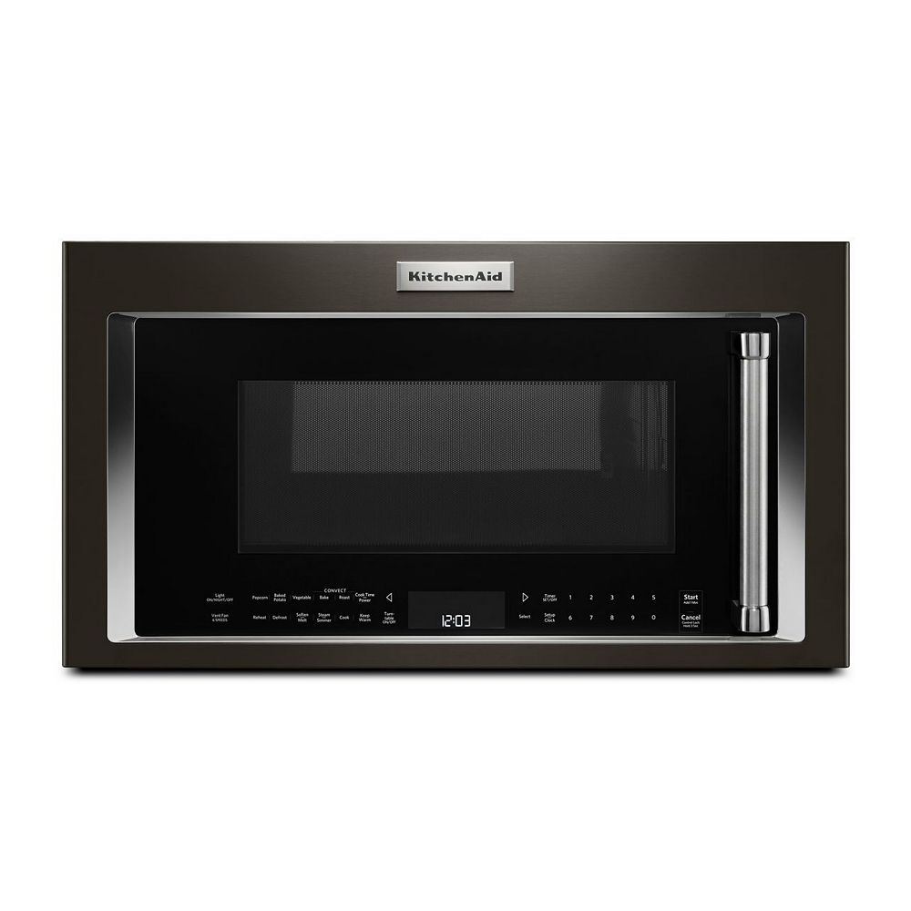 KitchenAid 1.9 cu. ft. Over the Range Convection Microwave in Black Stainless Steel