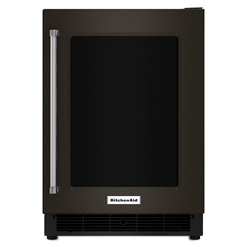 24-inch W 5.1 cu. ft. Undercounter Fridge in PrintShield Black Stainless Steel - Right Door Swing