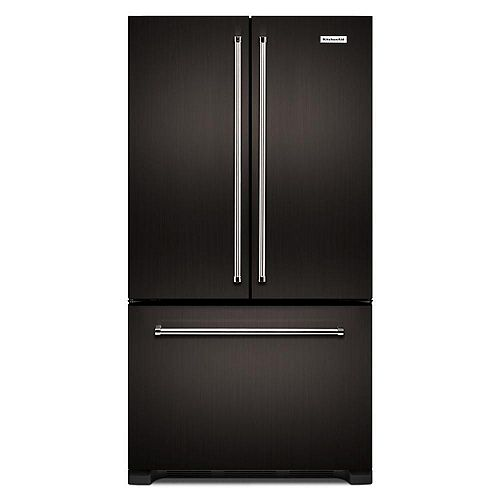 KitchenAid 36-inch W 22 cu. ft. French Door Refrigerator in Black Stainless Steel, Counter Depth