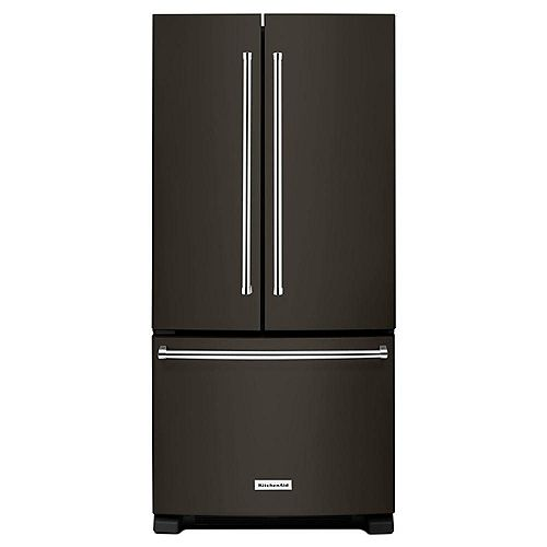 KitchenAid 33-inch W 22 cu. ft. French Door Refrigerator in Black - ENERGY STAR®