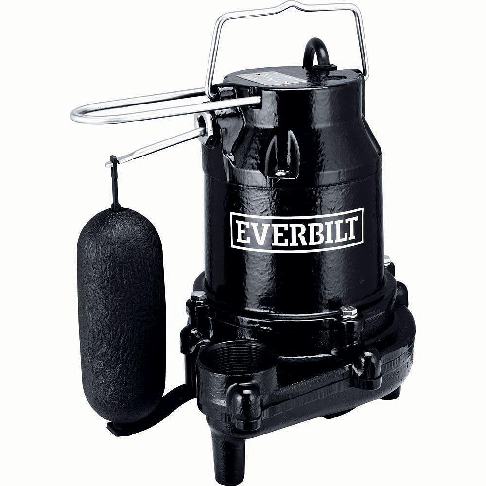 Everbilt 1/2 HP Cast Iron Sump Pump