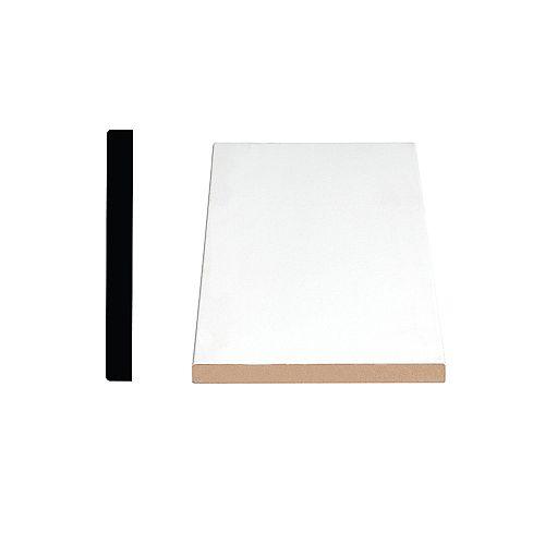 1/2-inch x 4 1/2-inch x 96-inch Modern MDF Primed Fibreboard Baseboard Moulding