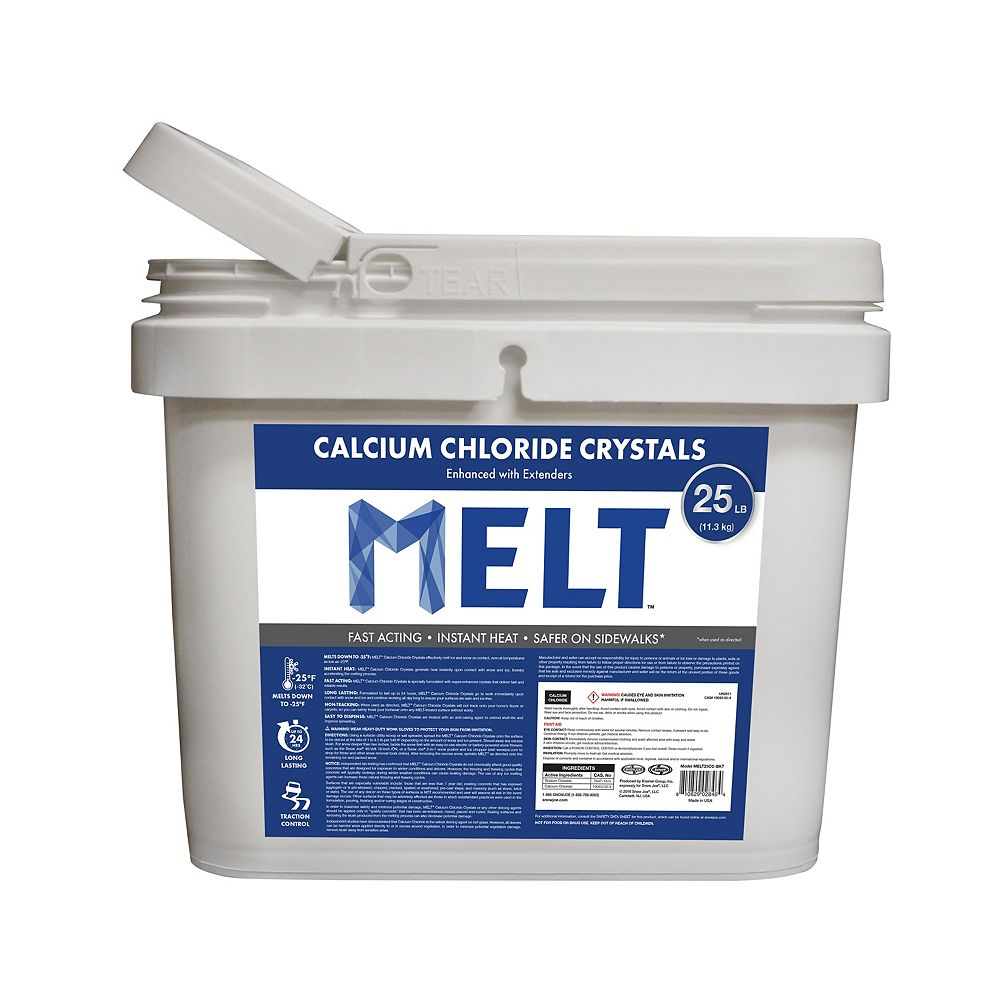 Snow Joe MELT 25 Lb. Bucket Calcium Chloride Crystals Ice Melter