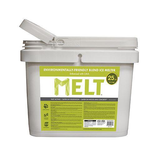 Snow Joe MELT 25 Lb. Bucket Premium Environmentally-Friendly Blend Ice Melter w/ CMA