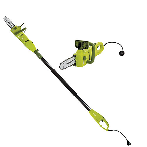 2-in-1 8-inch 8 Amp Electric Convertible Pole Chain Saw