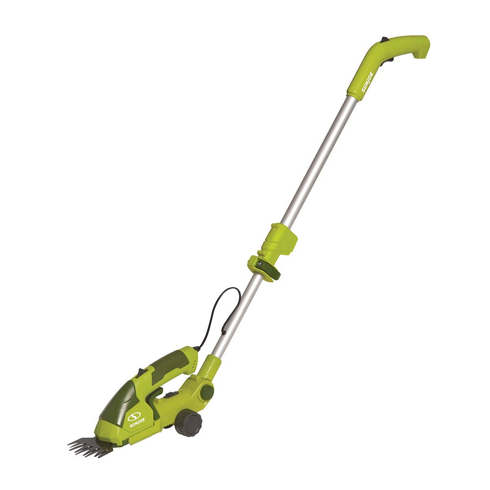 Sun Joe Cordless 2-in-1 Grass Shear + Hedge Trimmer with Extension Pole