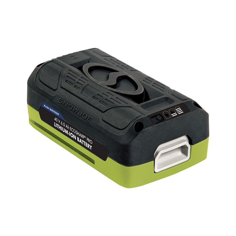Snow Joe + Sun Joe iON EcoSharp PRO 40V 6.0 aH Li-Ion Battery
