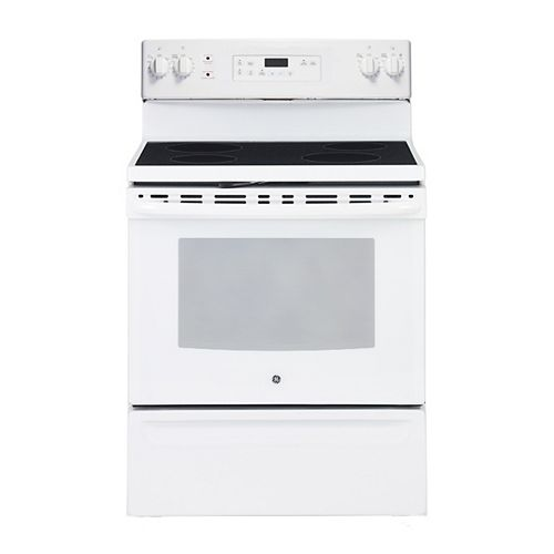 GE 30-inch 5.0 cu. ft. Single Oven Electric Range with Self-Cleaning in White