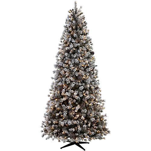 9 ft Lexington Quick Set Tree with Flocking