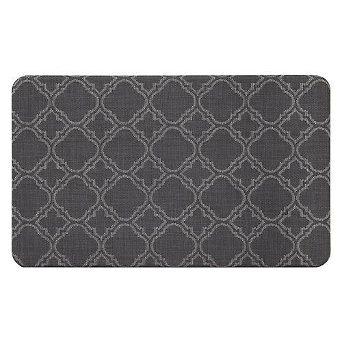18-inch x 30-inch Trellis Grey Comfort Mat