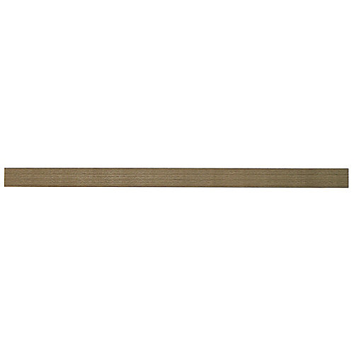 24-inch W x 10.2-inch D x 1.97-inch H Floating Shelf in Grey Oak