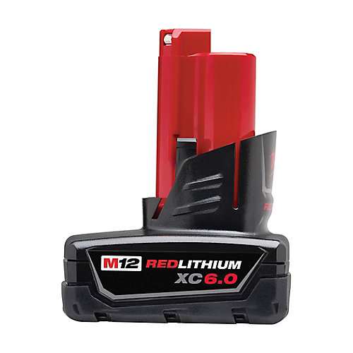 M12 12V Lithium-Ion Extended Capacity (XC) 6.0 Ah REDLITHIUM Battery