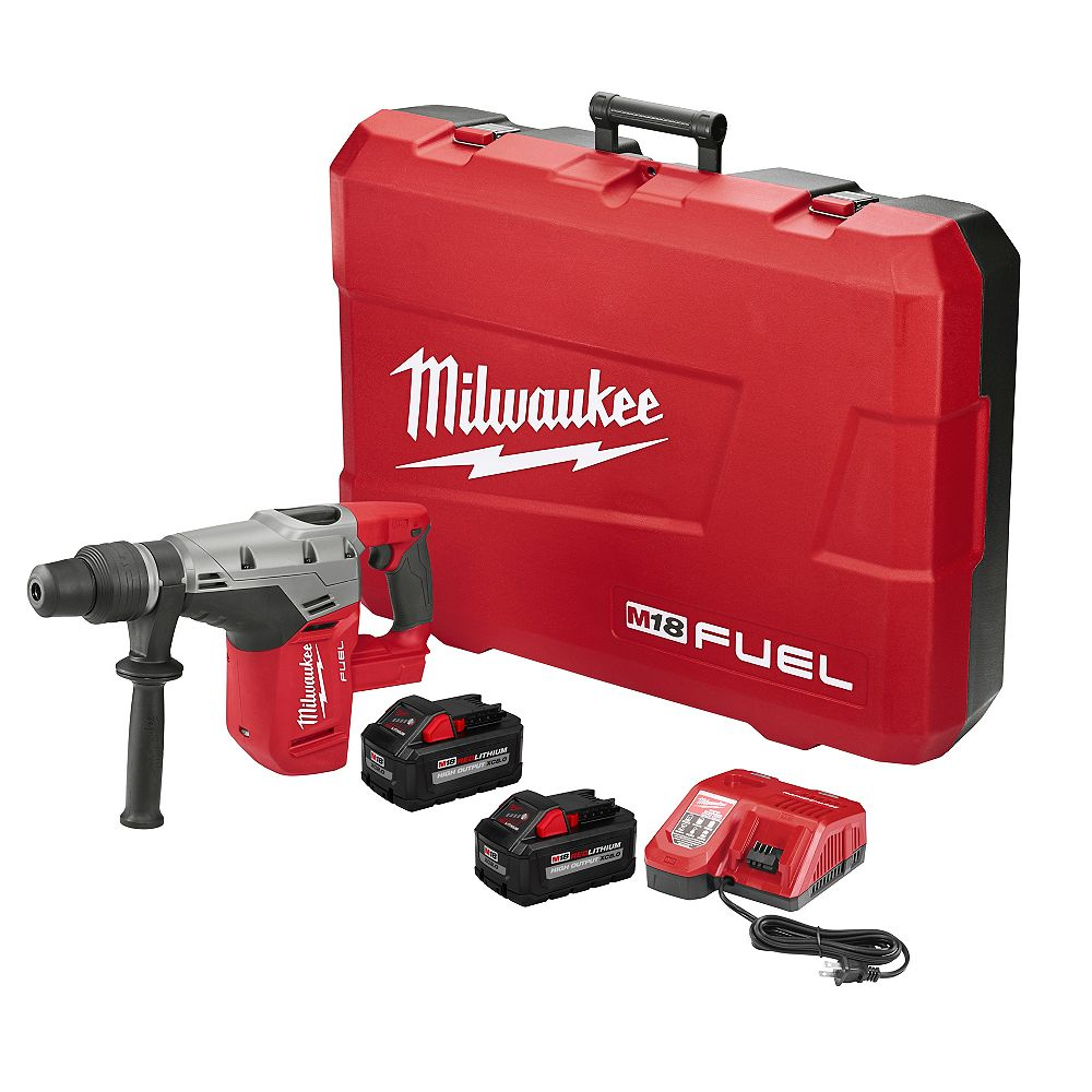 Milwaukee Tool M18 FUEL 18V Lithium-Ion Brushless Cordless 1-9/16 -inch SDS-Max Rotary Hammer Kit