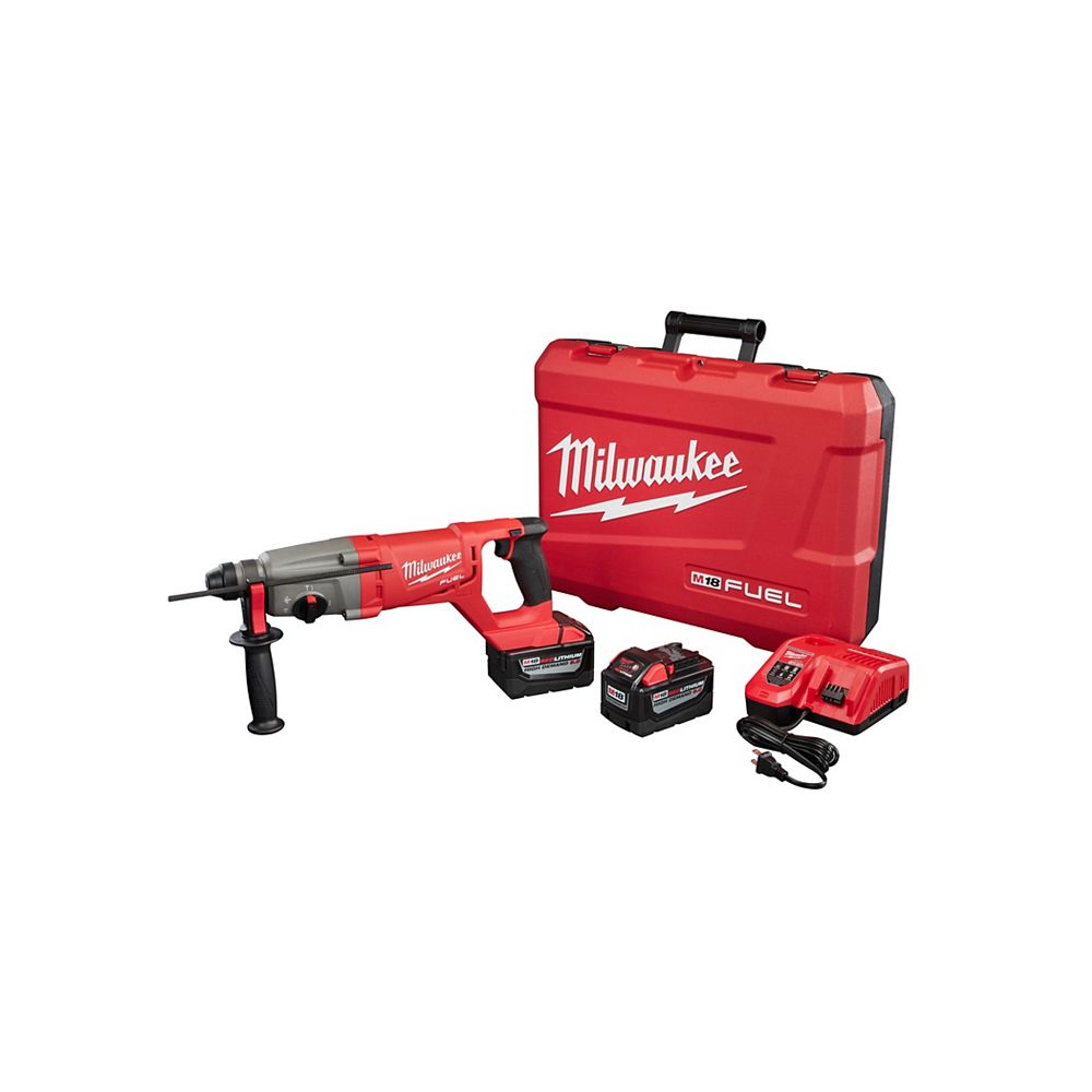 Milwaukee Tool M18 FUEL 1 Inch SDS Plus D-Handle Rotary Hammer HD Kit