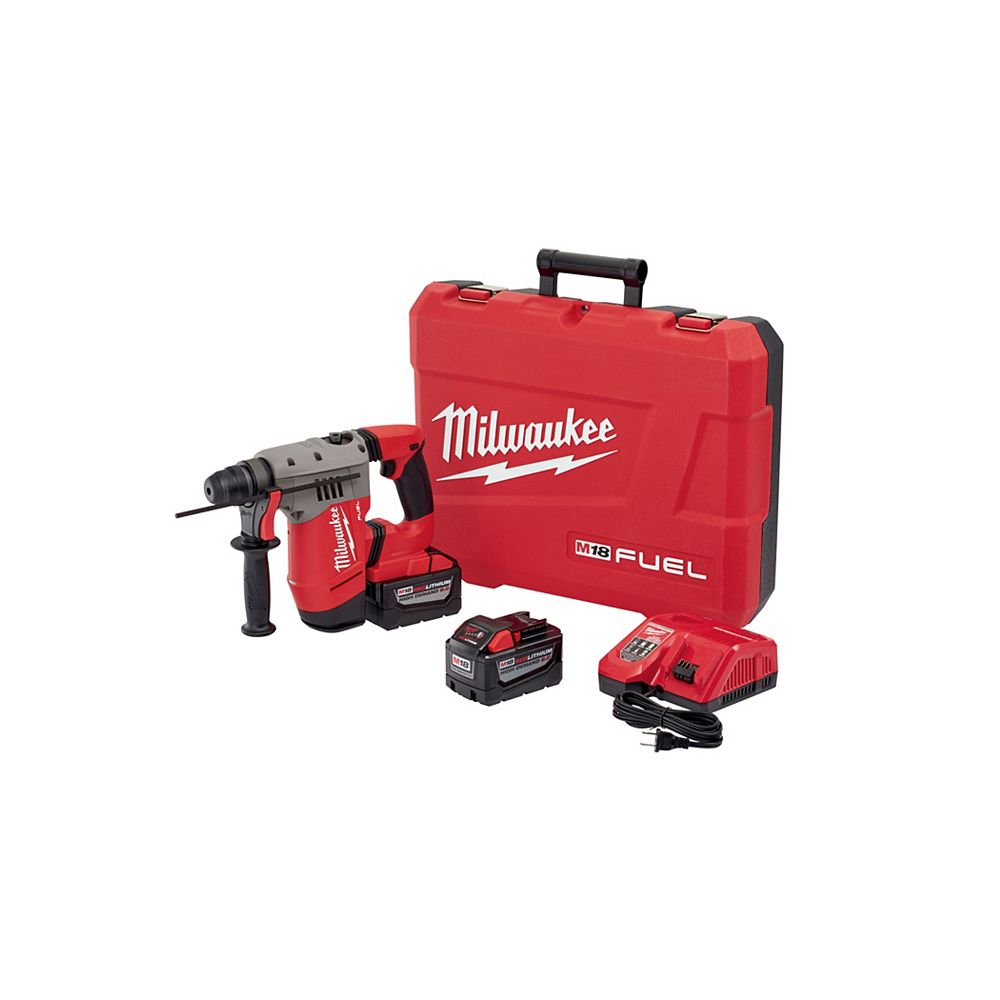 Milwaukee Tool M18 Fuel 1-1/8 Inch SDS Plus Rotary Hammer HD Kit