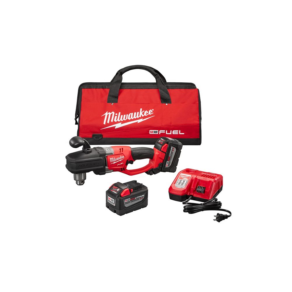 Milwaukee Tool M18 Fuel Hole Hawg 1/2-inch Right Angle Drill HD Kit