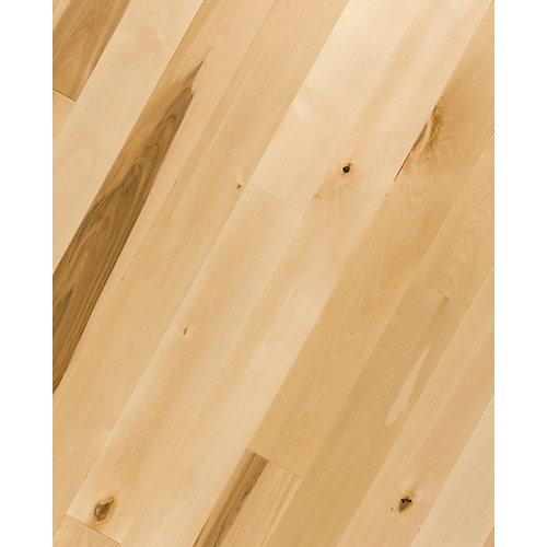 Revêtement de sol en bois , ¾ po x 2 ¼ po x longueurs variables, 20 pi2/caisse, merisier naturel