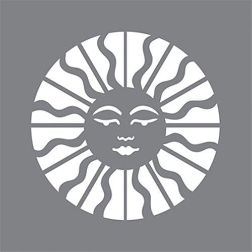 Stencil 6 inch x 6 inch Celestial Sun