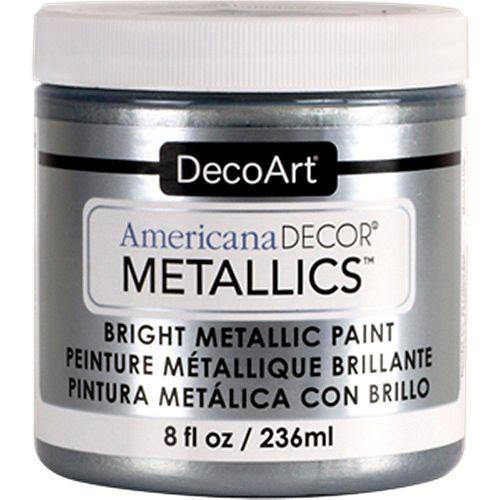 Peinture métallique DecoArt Argent 8oz