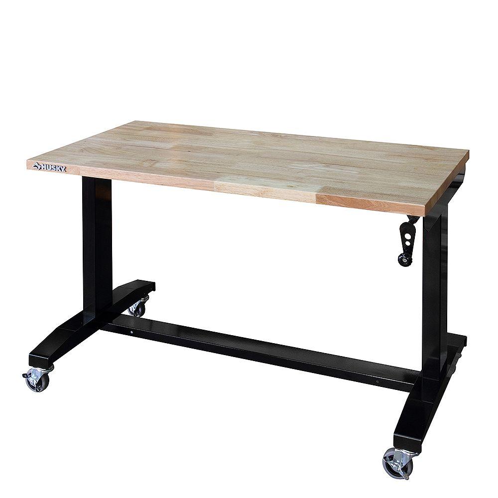 Husky 46-inch Adjustable Height Work Table HOLT46XDB12CA