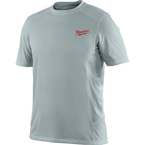 WORKSKIN Men's X-Large Gray Light Weight Performance Short-Sleeve Shirt