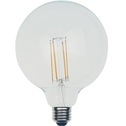 Ecosmart 100W Equiv. Soft White (2700K) G25 Dimmable LED Light Bulb w/ Classic Glass Filament - ENERGY STAR