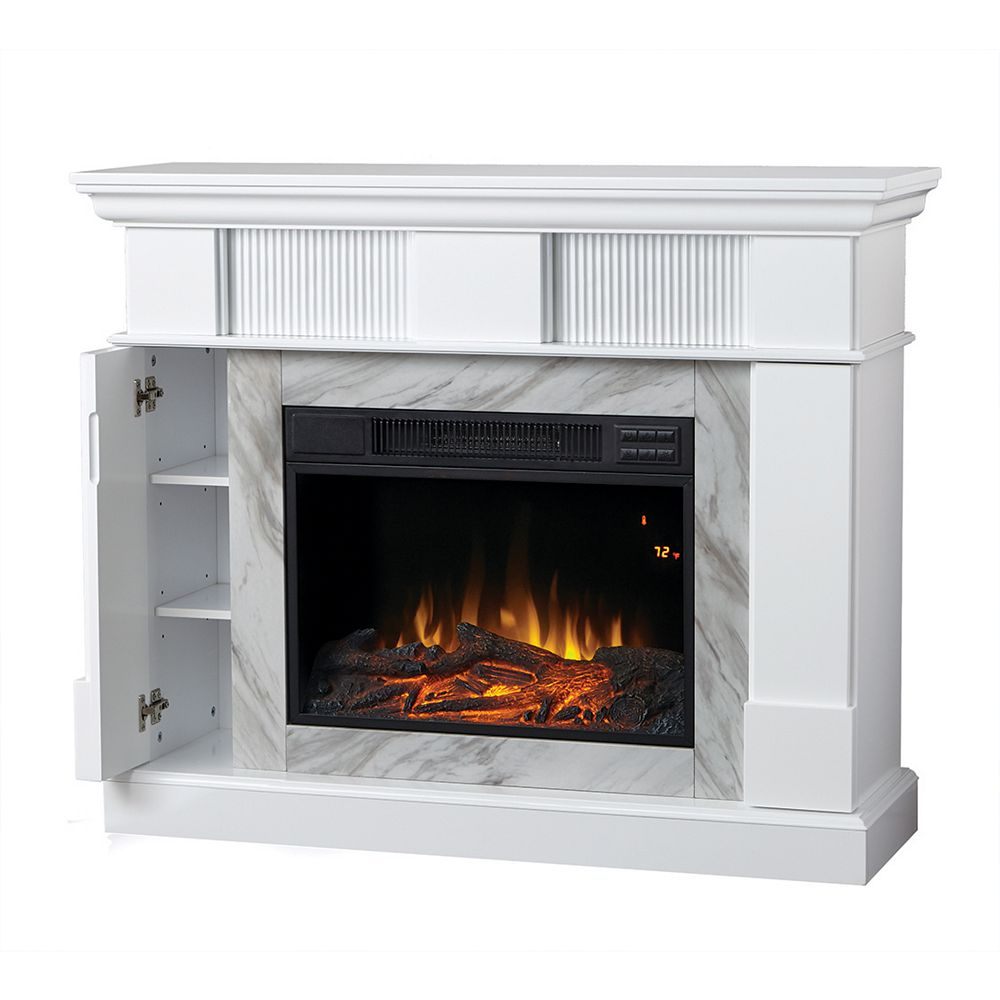 Home Decorators Collection Electric Fireplace With 45 Inch Mantel The Home Depot Canada
