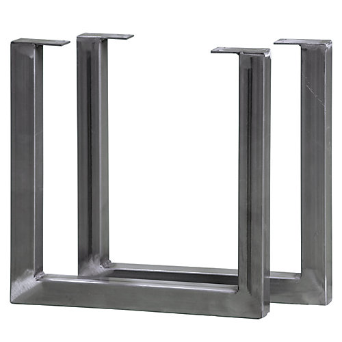 15 inch High Steel Furniture Double Legs (2-Pack)