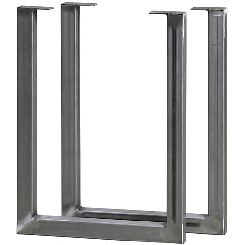 20 inch High Steel Furniture Double Legs (2-Pack)