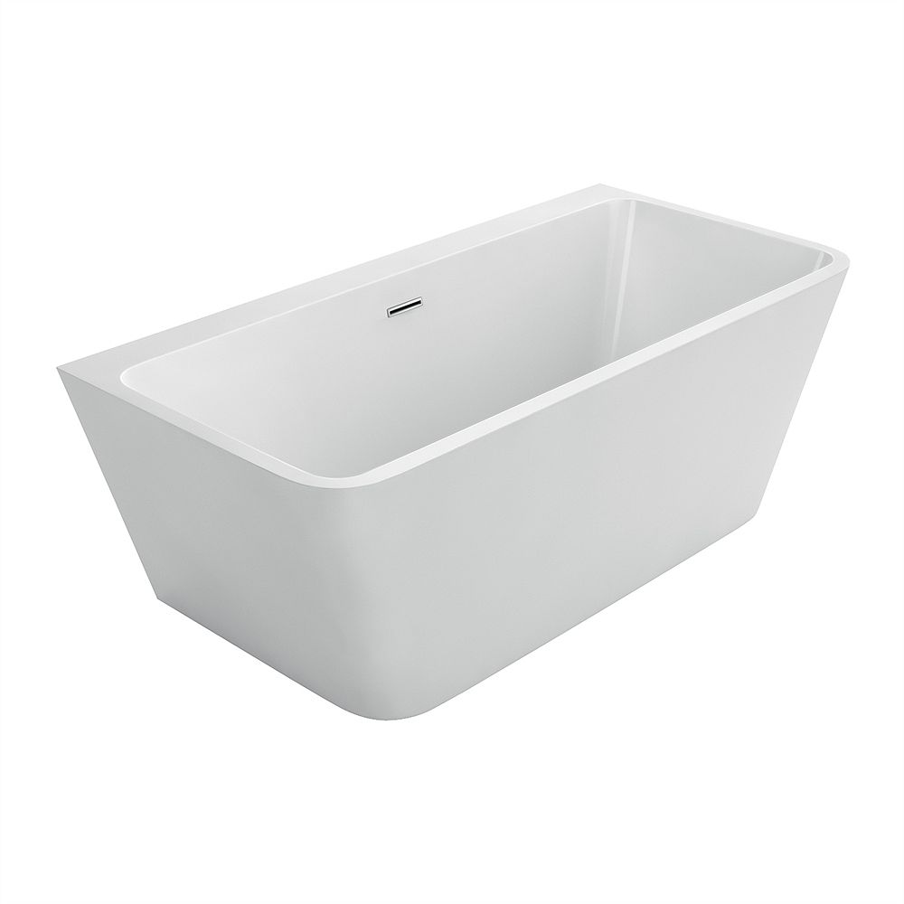 Acri-Tec Vanessa Seamless Acrylic Bathtub 59 Inches
