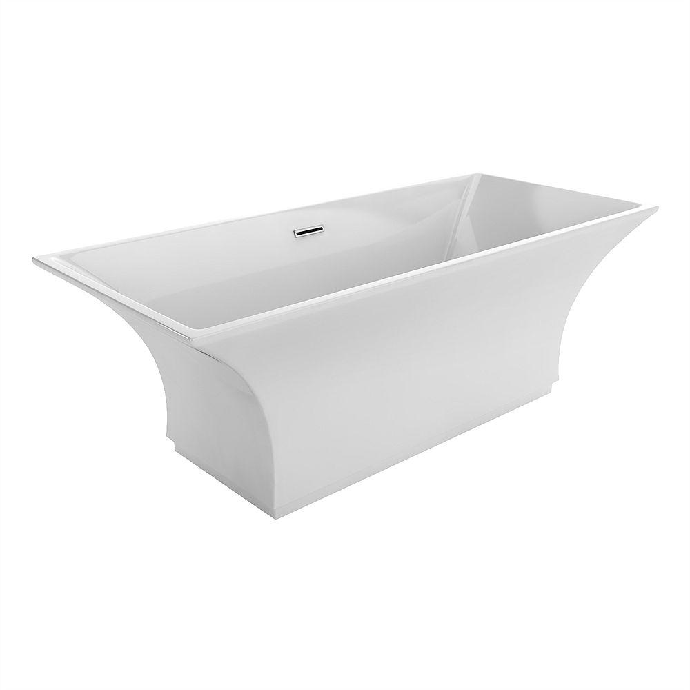Acri-Tec Chardin Seamless Free-Standing Acrylic Bathtub 67 Inches