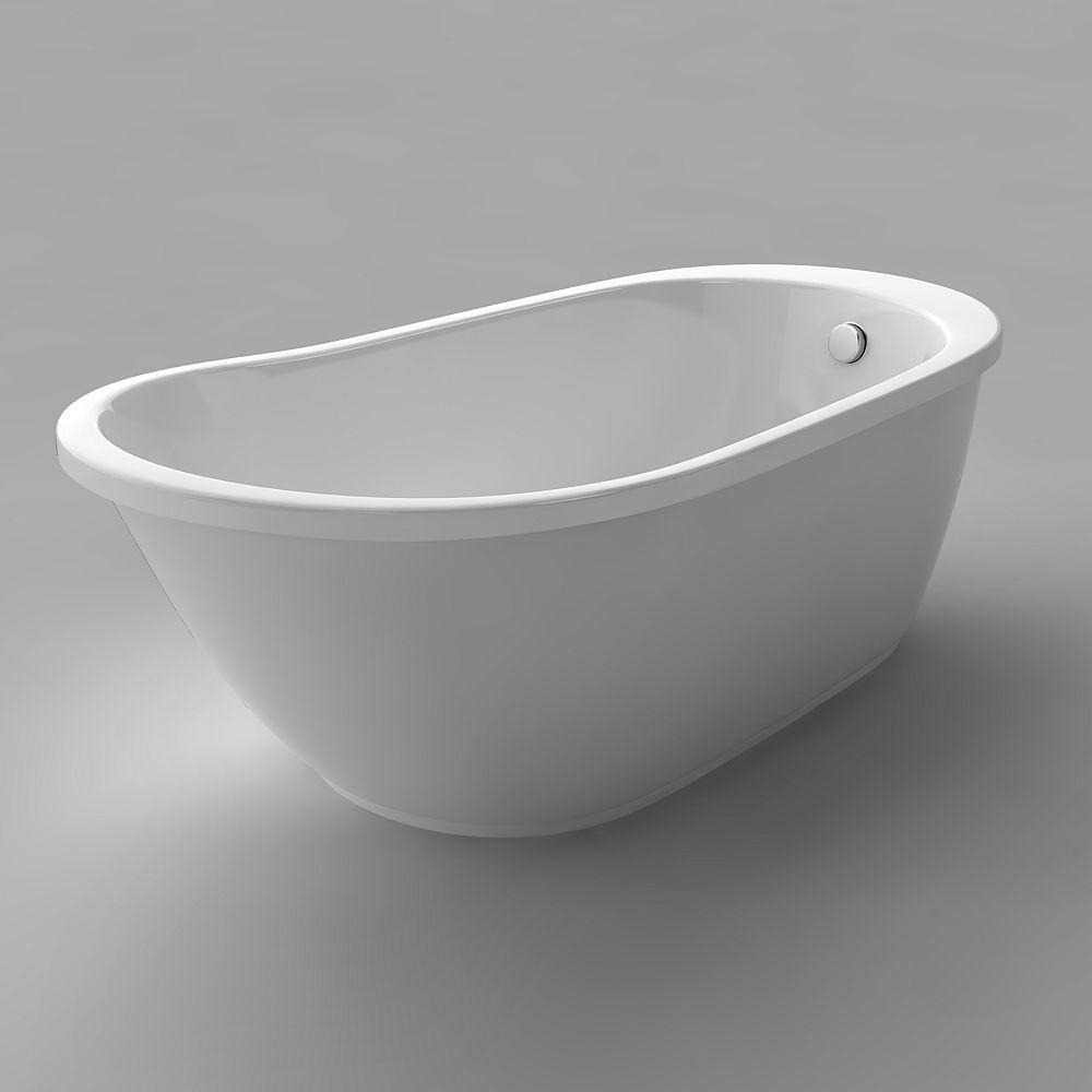 Acri-Tec Versailles Seamless Free-Standing Acrylic Bathtub 63 Inches