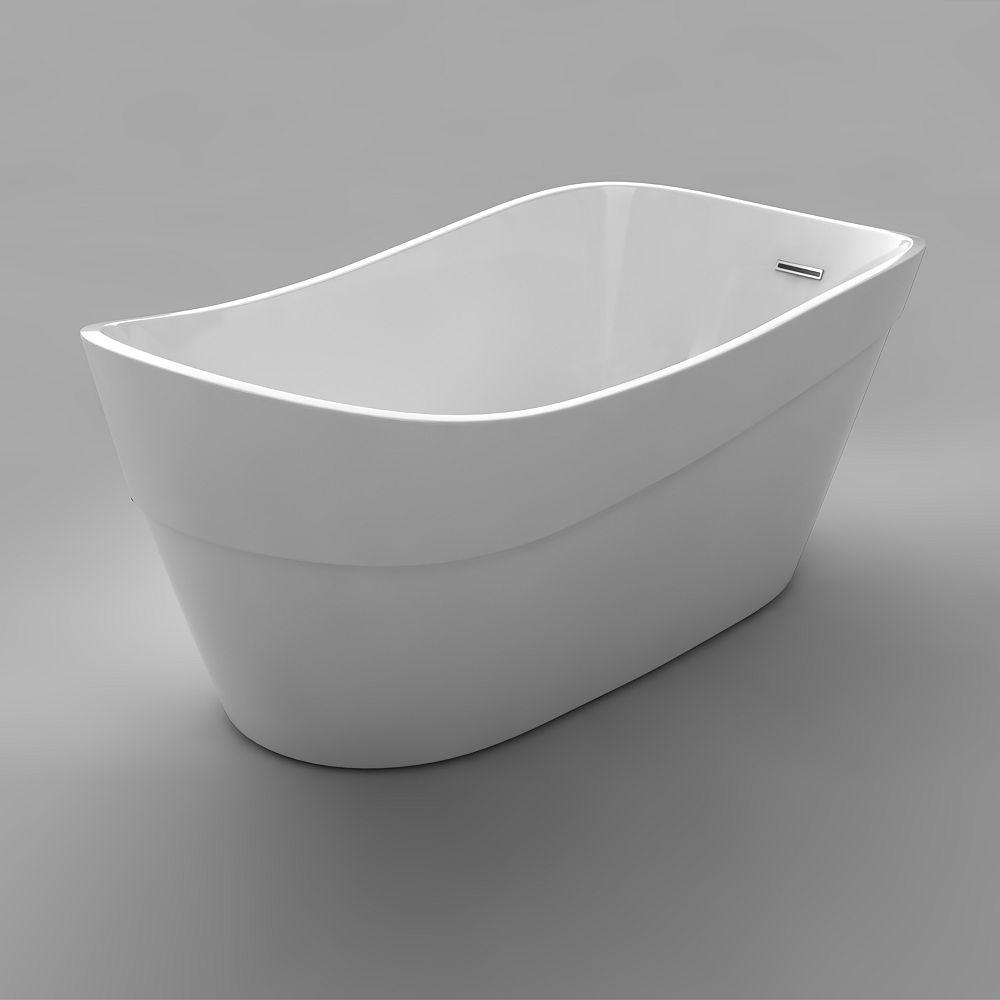 Acri-Tec Duval Seamless Free-Standing Acrylic Bathtub 66 Inches