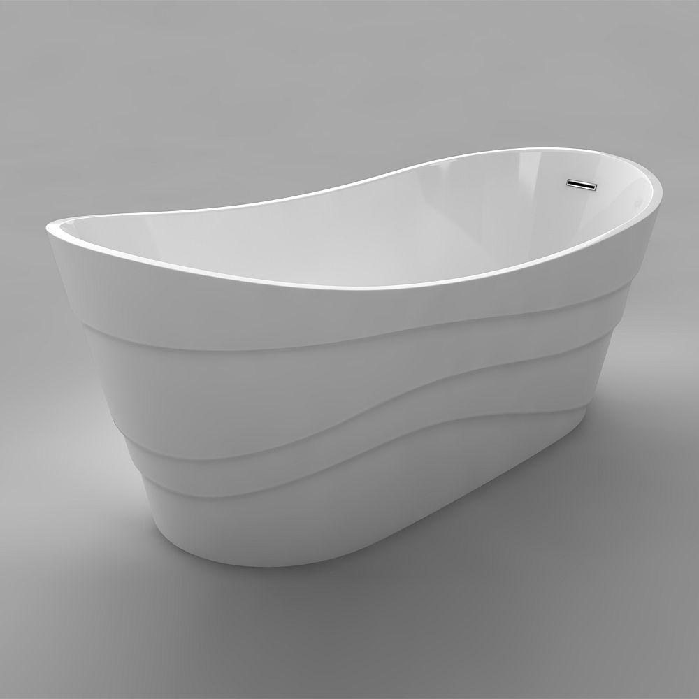 Acri-Tec Degas Seamless Free-Standing Acrylic Bathtub 67 Inches
