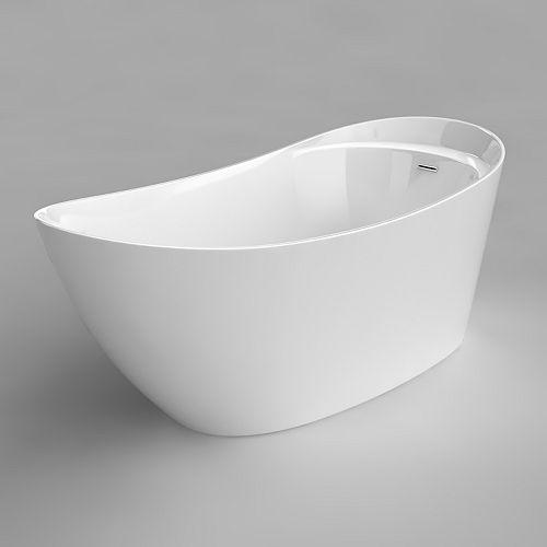 Acri-Tec Sherin Seamless Free-Standing Acrylic Bathtub 67 Inches