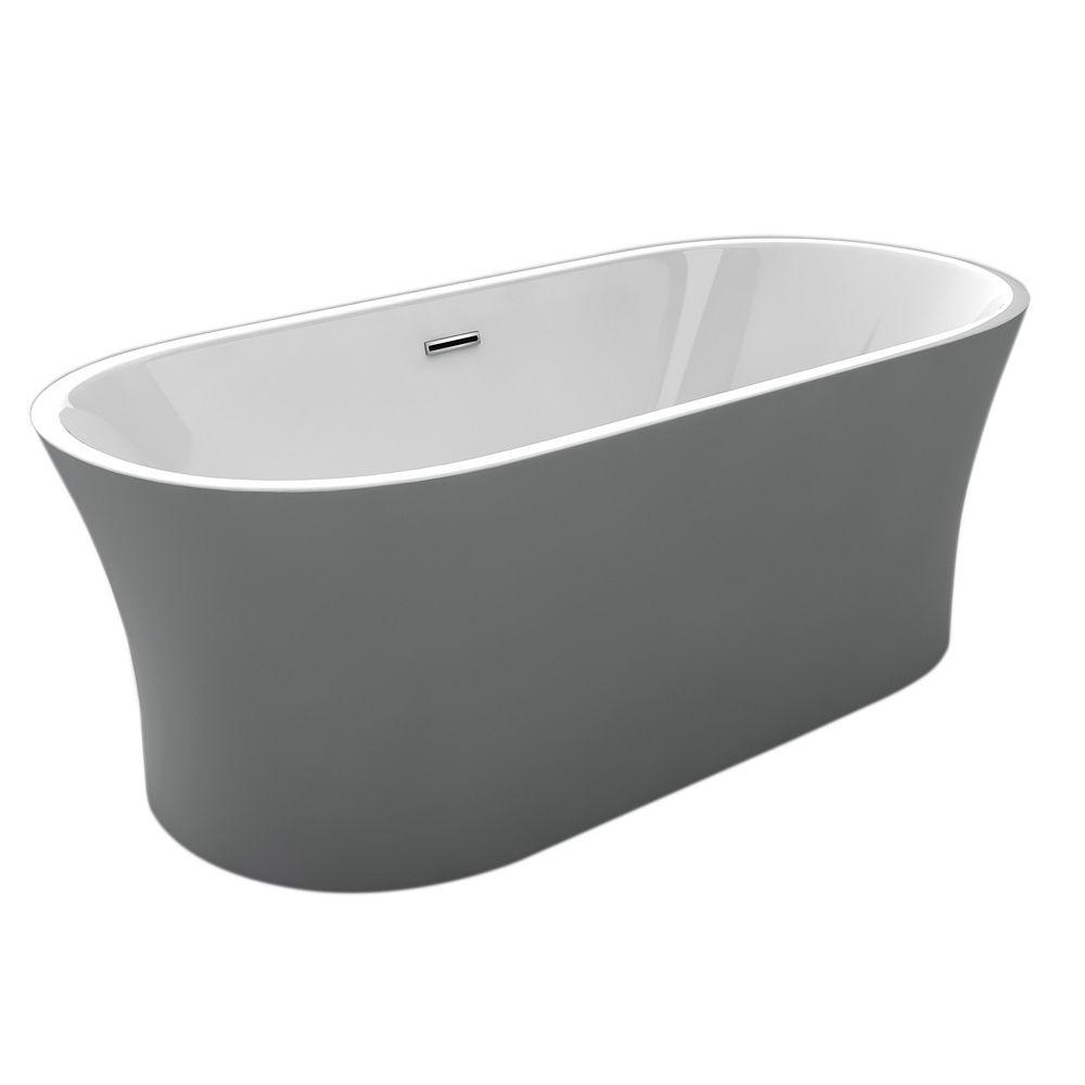 Acri-Tec Eve Seamless Free-Standing Acrylic Bathtub 67 Inches