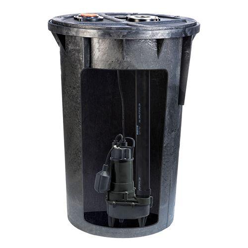 1/2 HP Sewage Pump Basin System