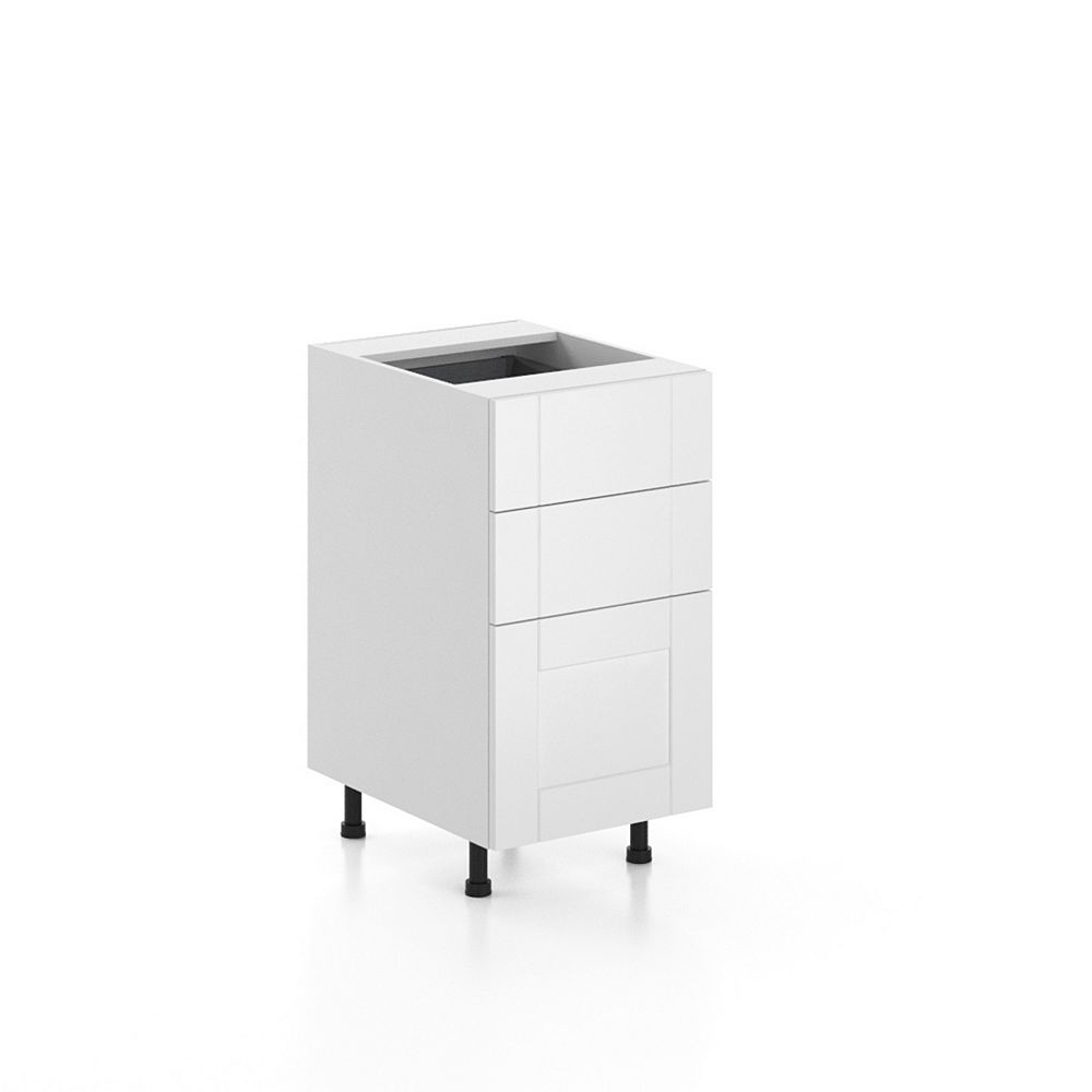 Eurostyle Oxford - Assembled 18 inch 3-Drawers Base ...