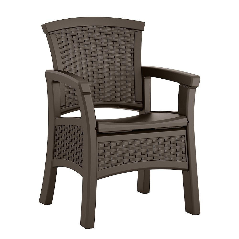 Suncast Elements Outdoor Dining Chair with Storage