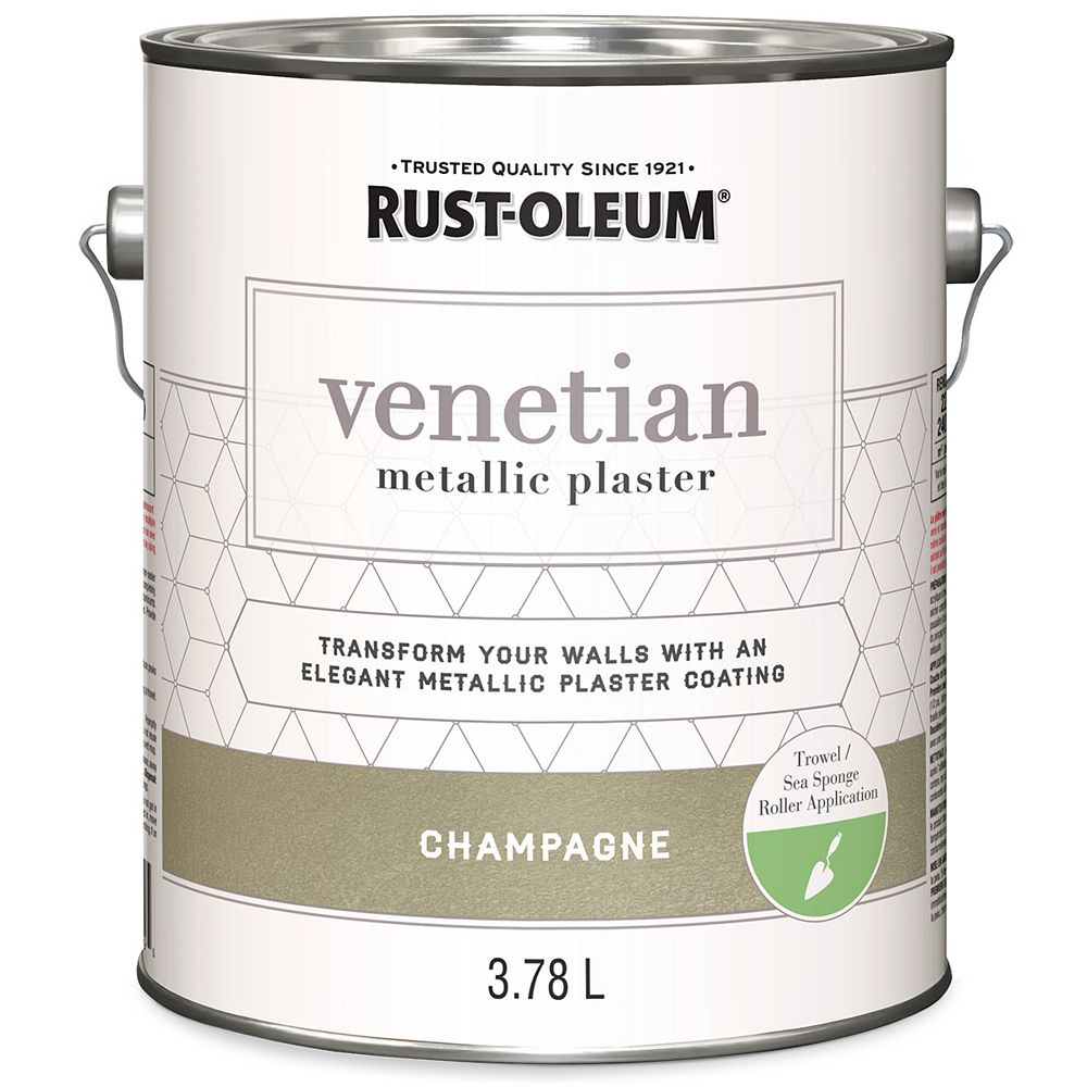 Rust-Oleum Venetian Metallic Plaster In Champagne, 3.78 L