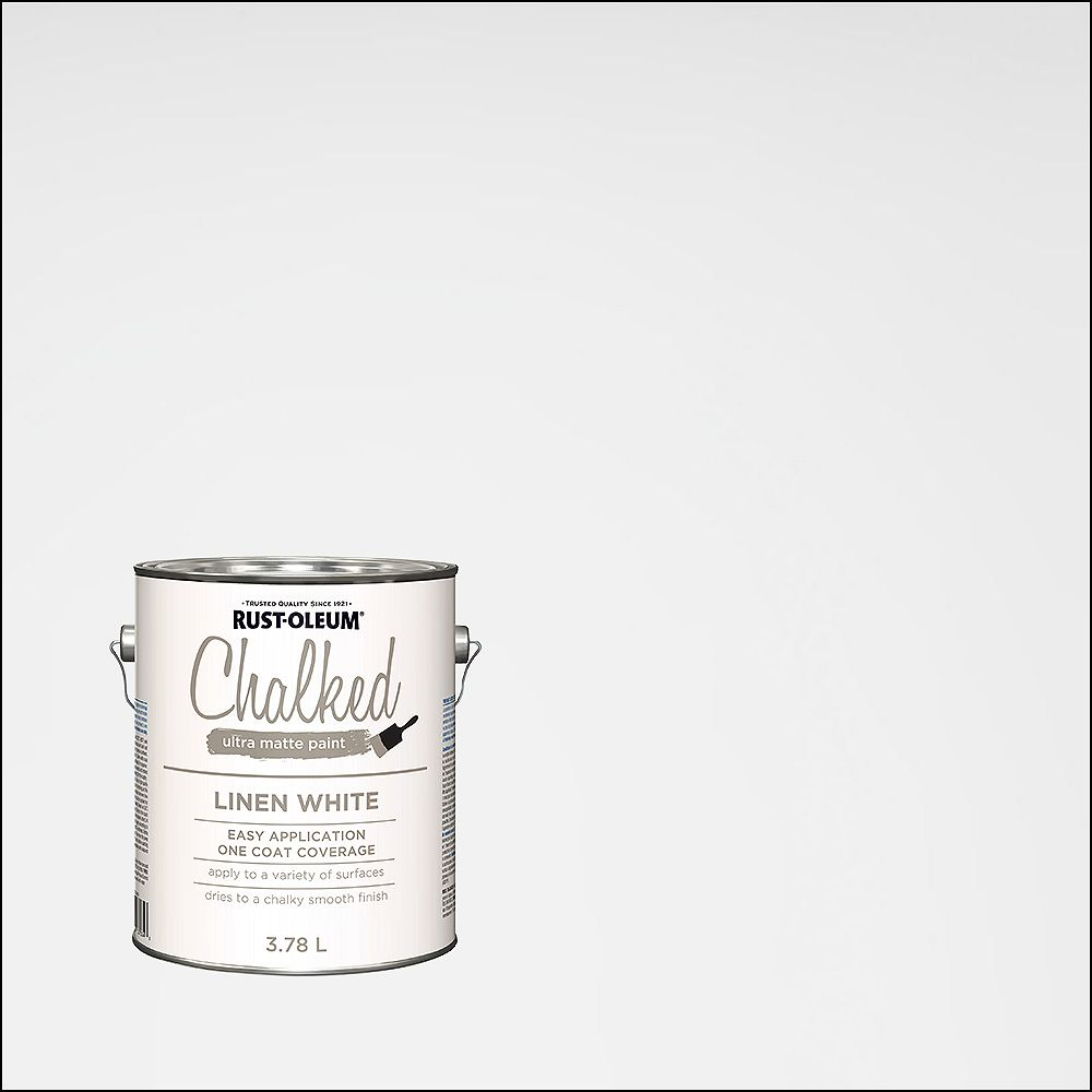 Rust-Oleum Chalked Ultra Matte Paint In Linen White, 3.7 L