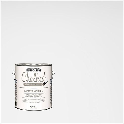 Chalked Ultra Matte Paint In Linen White, 3.7 L