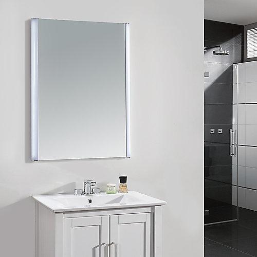 24-inch x 34-inch LED Frameless Single Wall Mirror