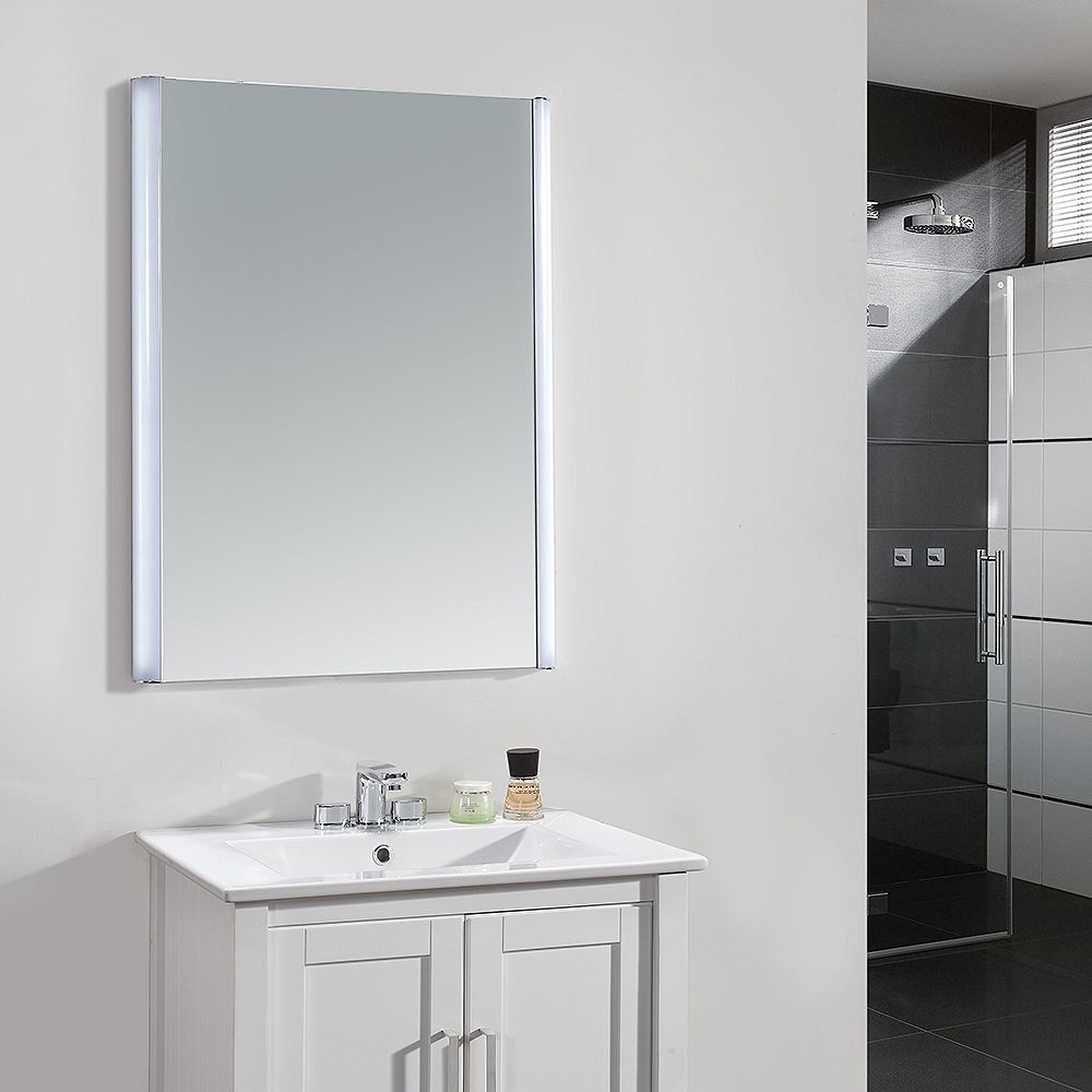 Ove Decors 24-inch x 34-inch LED Frameless Single Wall Mirror