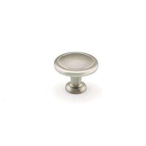 (Paquet de 10) Bouton Traditionnel Nickel brossé 1 1/4 po (32 mm)