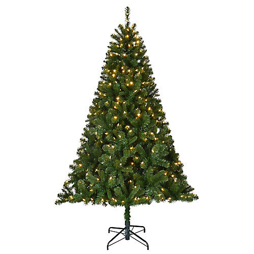 6.5 ft. Pre-Lit LED Cliffside Artificial Christmas Tree with 370 Color Changing Lights