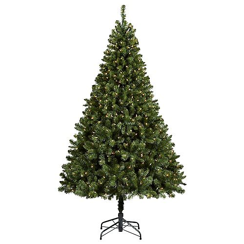 6.5 ft. Pre-Lit Cliffside Artificial Christmas Tree with 450 Clear Lights