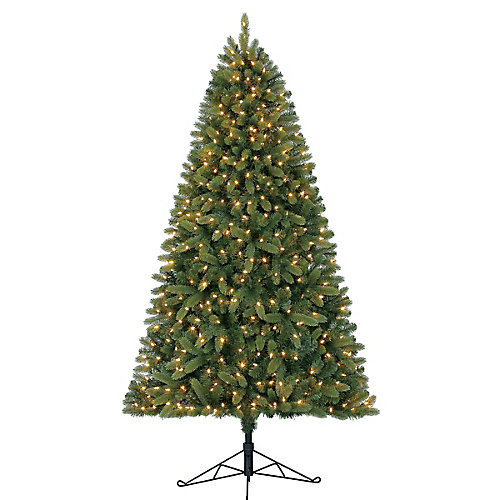 7 ft. 350-Light Hayden Fir Half Tree