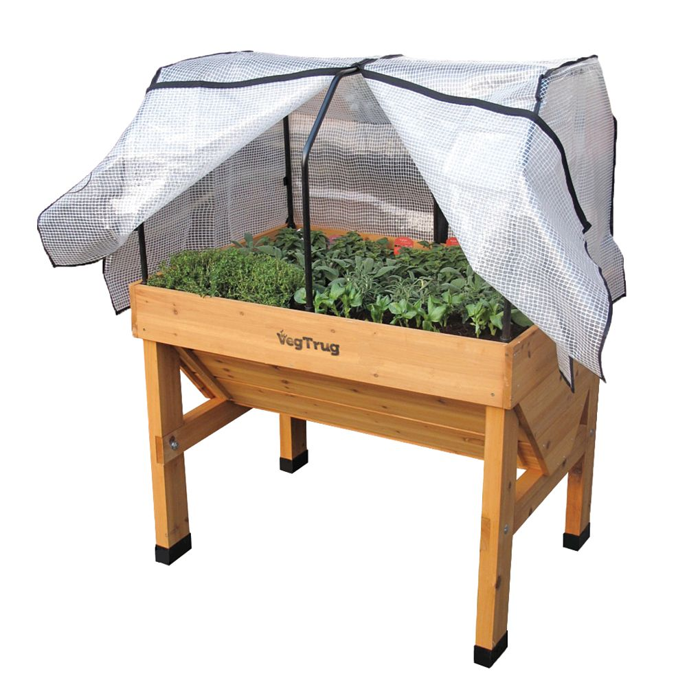 VegTrug Small Greenhouse Frame and Cover for Classic Raised Garden Bed