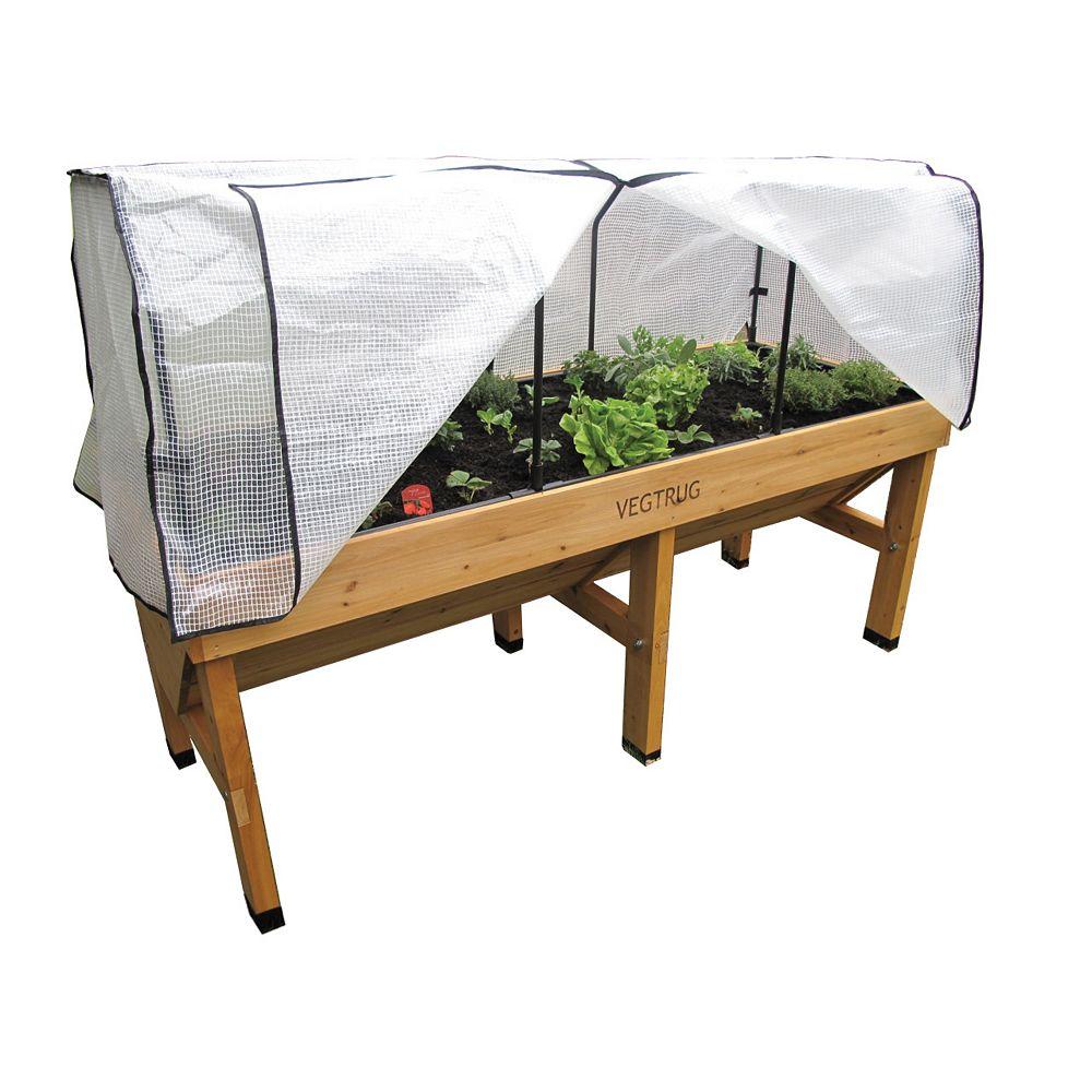 VegTrug Medium Greenhouse Frame and Cover for Classic Raised Garden Bed